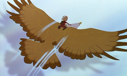 Cody soars on the wings of an eagle.