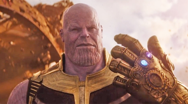 Thanos wears a fancy glove.