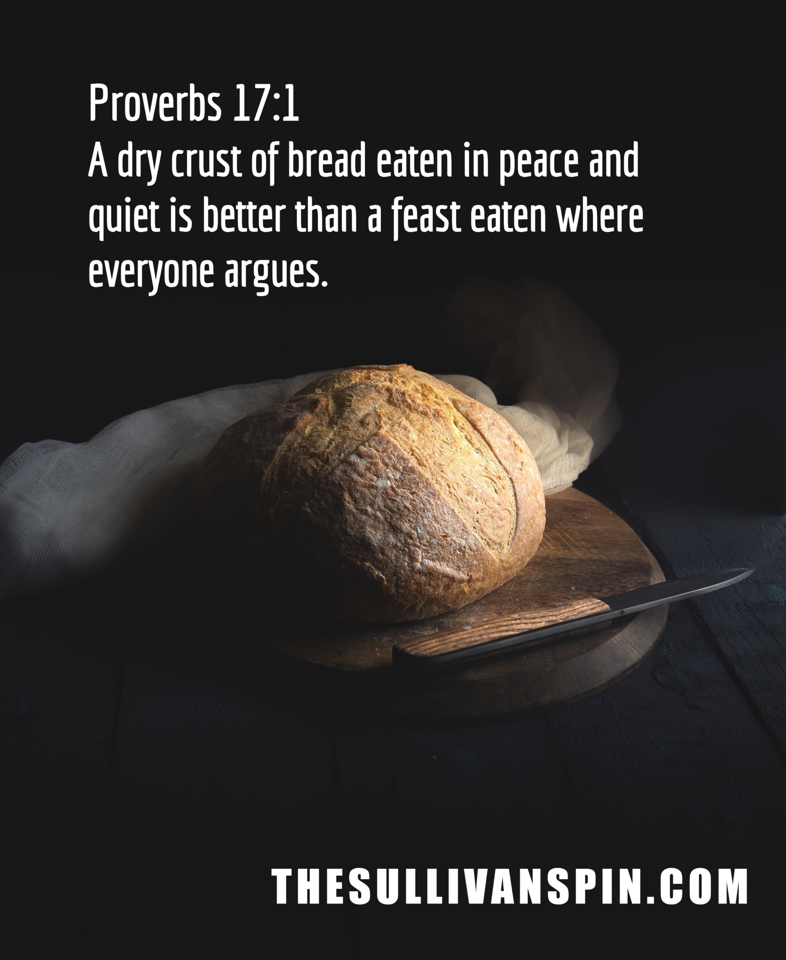 A loaf of bread enjoyed in peace.