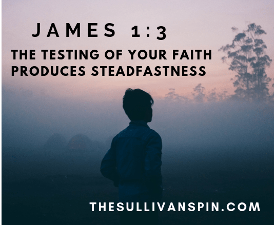 James 1:3 Testing your faith produces steadfastness